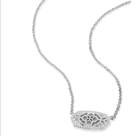 Kendra scott jewelry elisa silver pendant necklace in silver elisa silver pendant necklace in silver filigree mozeypictures Images